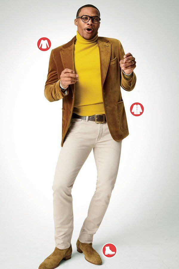Russell Westbrook in GQ. See more from the photoshoot with the outfit break down on Looklive.