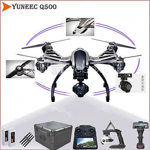 yuneec tájfun Q500 5.8 GHz 4-tengelyes 4k kamera drone kettős elemek komplett kardánok, kamera és kézi gömbcsuklós 2016 – $1,699.99