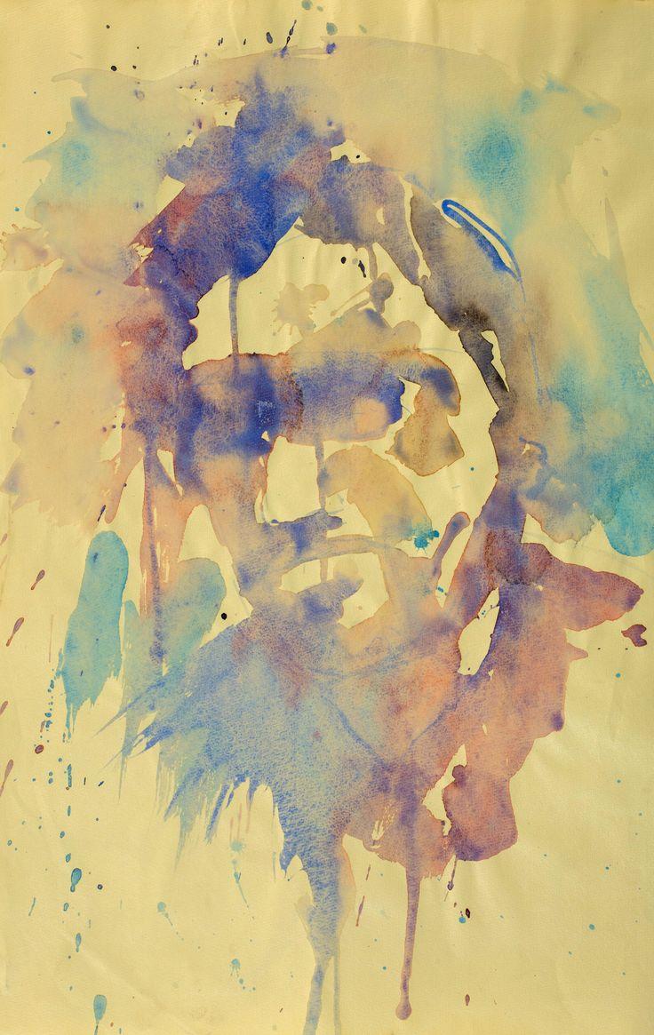 Resaldo Ajazi- Ritratto (aquarello su carta)