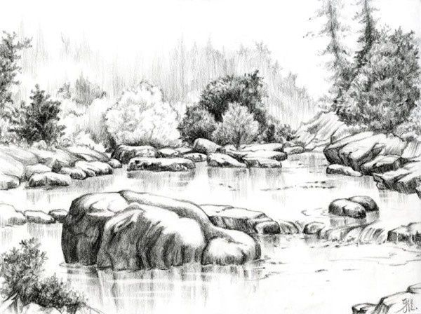 Beautiful Sketches Of Nature 1000+ ideas about pencil sketches of nature on pinterest ...