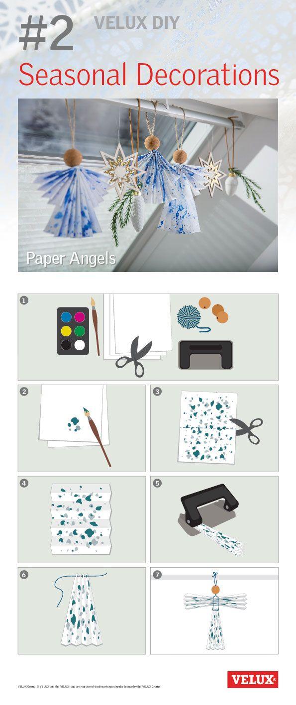 Flotte juleengler. Julepynt som kan lages i mange farger,varianter og størrelser. Laget en på kontoret på 5 minutter