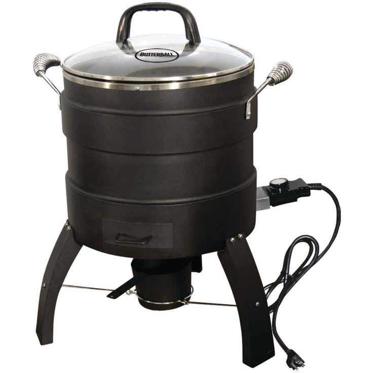 Electric Turkey Fryer No Oil 18 Lb Outdoor Roaster Party Cooker Smoker Chip Tray #BUTTERBALL