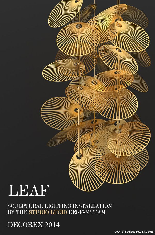 New sculptural lighting installation ...'Leaf' -  simply stunning! fiona.ritchie2@gmail.com - Gmail