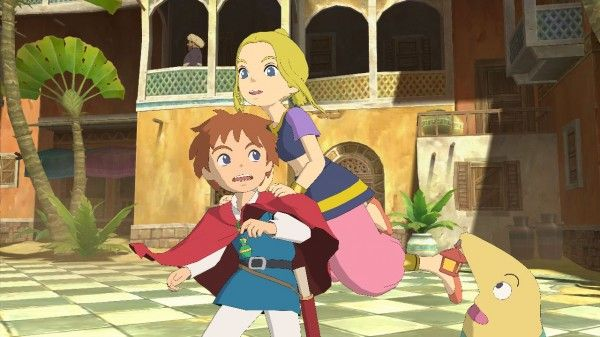 With Tokyo Game Show kicking off, Namco Bandai has chosen to release a few new screenshots for Ni no Kuni: Wrath of the White Witch, one of which features some English text as it shows off the game's battle system.