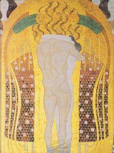 Il Fregio di Beethoven di Klimt è il trionfo dell'amore, l'unica forza, assieme all'arte, in grado di redimere, salvare e proteggere.