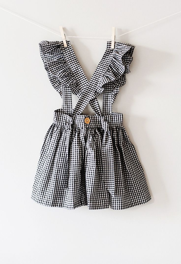 522fadf6db8 Sweet Handmade Gingham Suspender Skirt