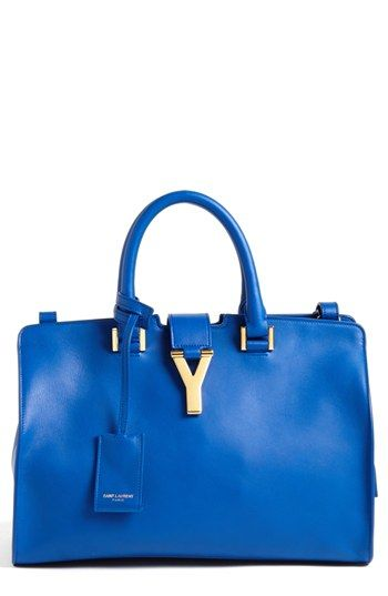 Saint Laurent 'Petite Ligne Y' Leather Tote, Small | Nordstrom - Has a shoulder strap