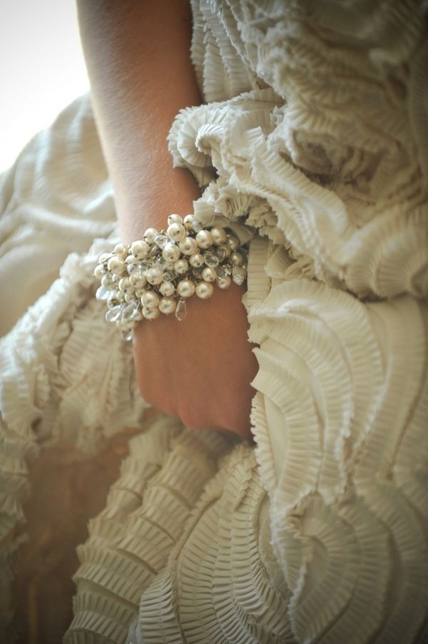 pearls and ruffles
