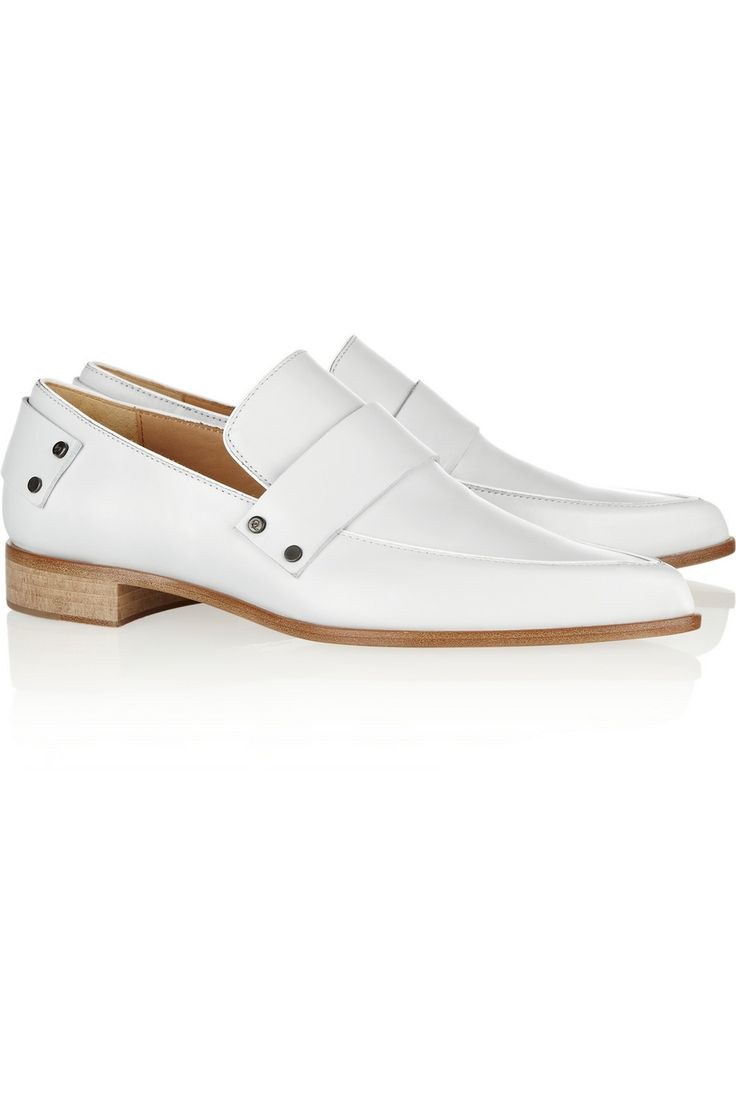 Grace leather point-toe flats by McQ Alexander McQueen