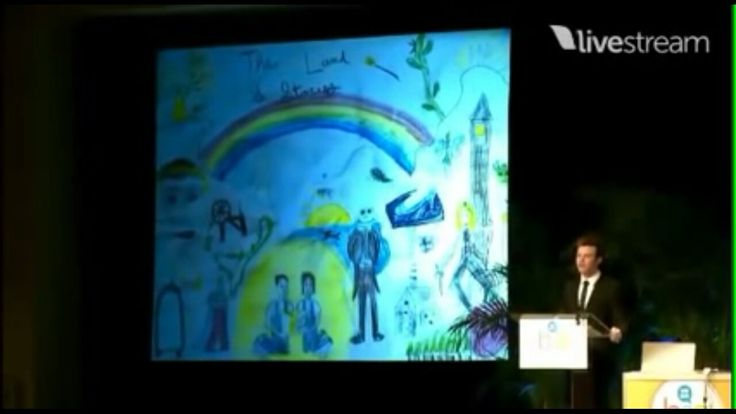 Chris Colfer's childhood drawing