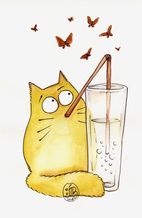 Bubble cat by Maria van Bruggen