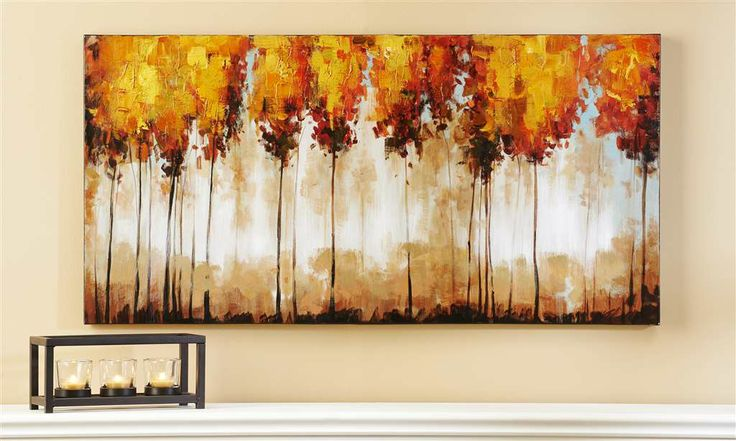 Giftcraft canvas tree print bradley hall furniture for Gift craft home decor