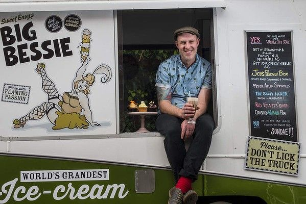 """Grab a """"Breaking Bad""""-inspired dessert from Alistair Wise and his Hobart-based Big Bessie ice-cream truck. From Good Food's Summer Bucket List."""