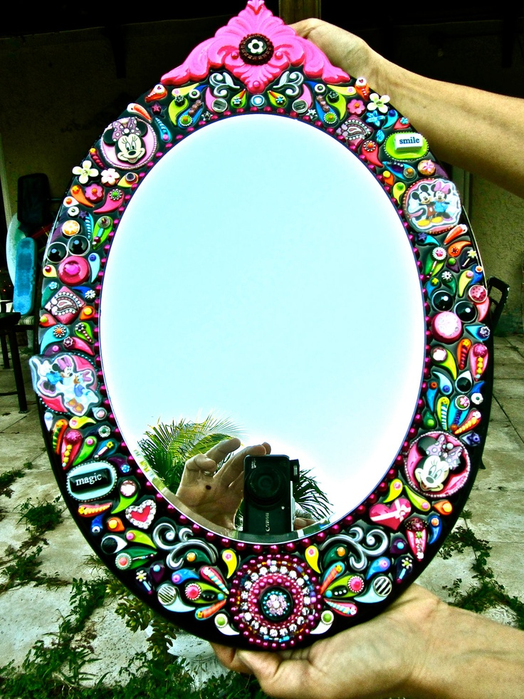 1000 images about mirrors on pinterest for Embellished mirror frame