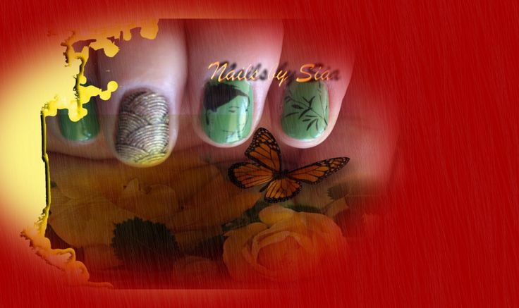 Nail stamp by Sia with ZOYA nail polish <3