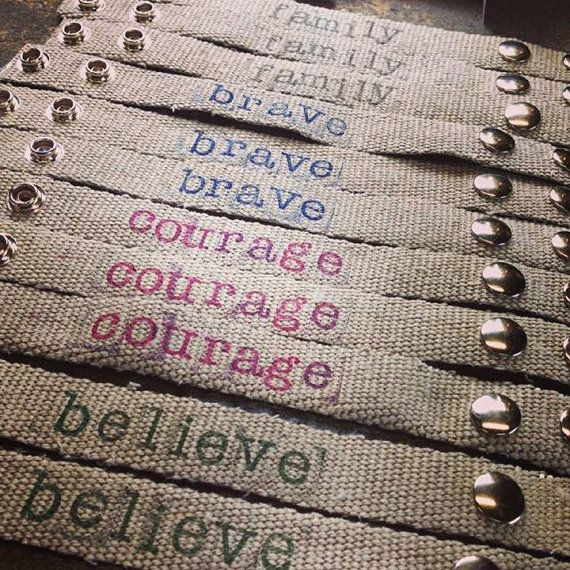 Fire Hose Bracelet (Choose from one of the phrases listed or select a custom phrase up to 8 letters/numbers)    | Shared by LION