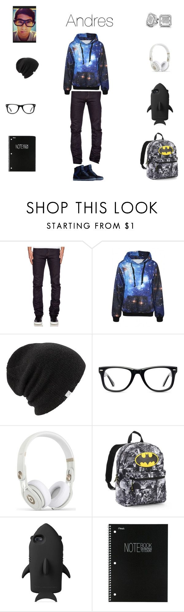 """Andy"" by neoncupcakes23 ❤ liked on Polyvore featuring Naked & Famous, Supra, Coal, Muse, STELLA McCARTNEY, Mead and Bling Jewelry"