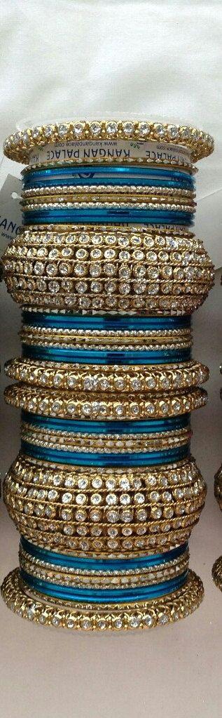 Designer Bollywood Bangles Indian Bangles Turqouise Bangles Blue Bangles Gold…