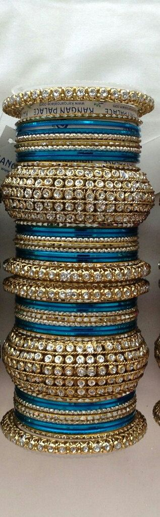Designer Bollywood Bangles Indian Bangles Turqouise Bangles Blue Bangles Gold…