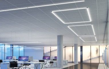 An example of modern linear lighting by Kluś.