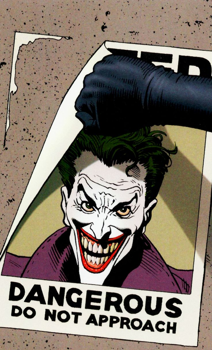 WANTED The Killing Joke (1988) Art by Brian Bolland Story by Alan Moore