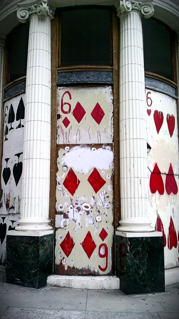 6 of diamonds doors. @designerwallace