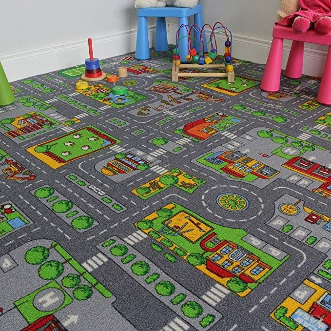 The Rug House Children's Play Village Mat Town City Roads