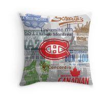 Montreal Print Throw Pillow