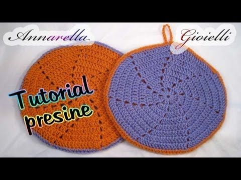 Tutorial uncinetto - Presine quadrate per la cucina - YouTube