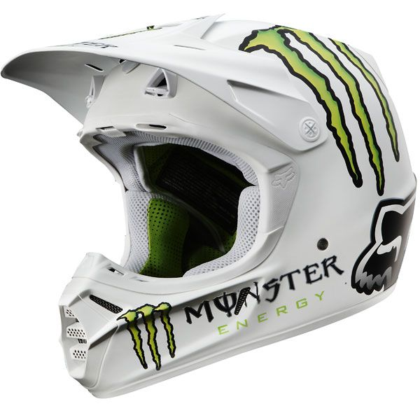 fox racing v3 rc monster pro helmet helmet pinterest. Black Bedroom Furniture Sets. Home Design Ideas