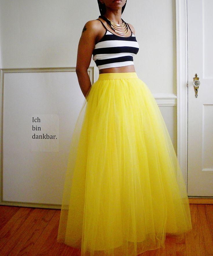 Tutu Cute Skirt - Maxi (Yellow) by 2live2love...pink please!!!