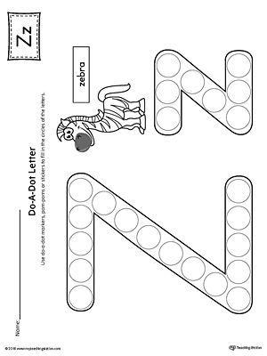 letter z do a dot worksheet preschool crafts lettering preschool letters do a dot. Black Bedroom Furniture Sets. Home Design Ideas