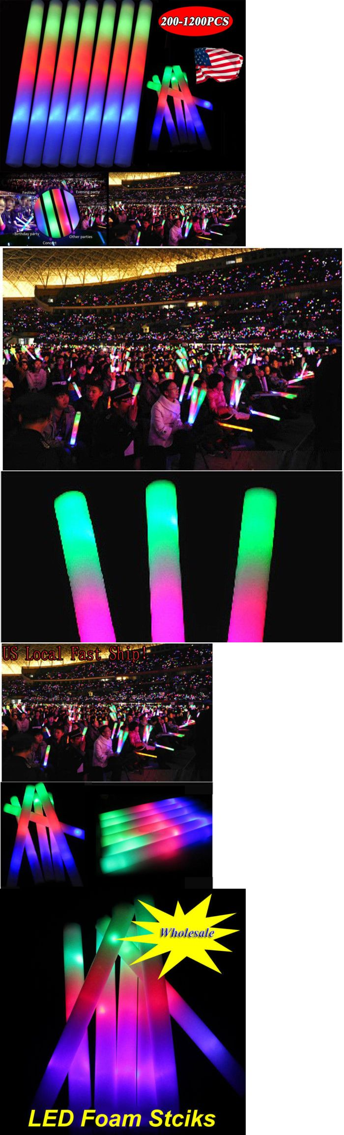 Glow Sticks 51019: 200-1200Pcs Light-Up Foam Sticks Led Wands Rally Batons Concert Party Suppliers -> BUY IT NOW ONLY: $139.69 on eBay!