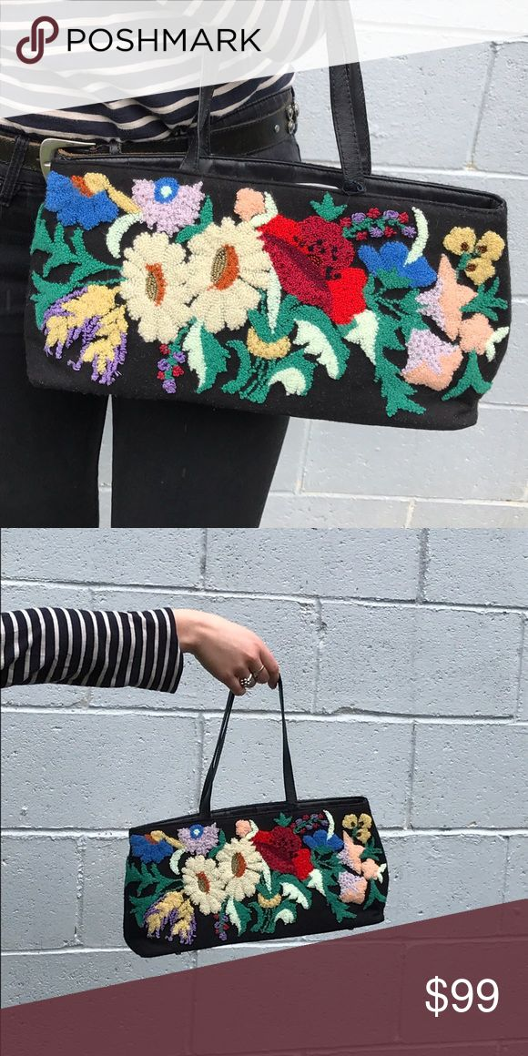 Shag Carpet x Bead Embroidered Bag This #PierreUrbach by #Santi shoulder bag is embroidered in the front, plain in the back, with a zipper compartment inside. Vintage flare, new with tags! Dimensions to come! Xx . . . . . . #accessorize #winterfashion #winterfloral #winterflorals🌸 #winterflorals #winterfloraldesigns #handbags #shoulderbags #classybaglady #accessory #vintagefashion #embroidery #embroiderylove #embroidered #beadedhandbags #pursesforsale #purse #purses #fashion #style…