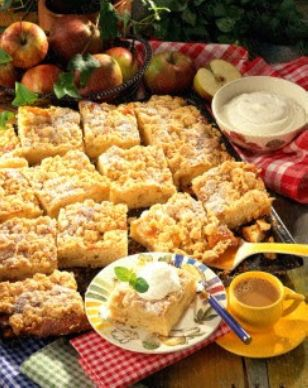 Das Rezept für Apfel-Streusel-Blechkuchen und weitere kostenlose Rezepte auf LECKER.de