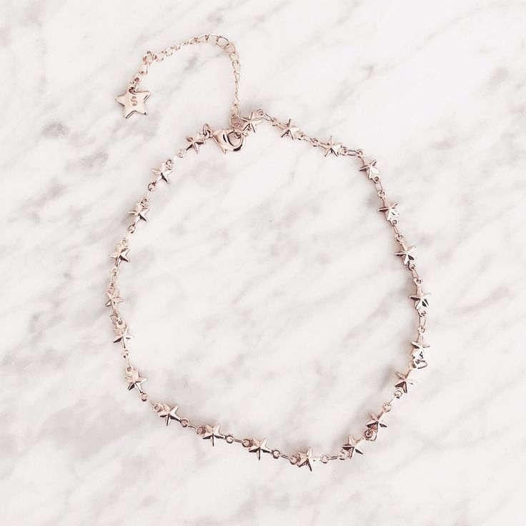 """- Dainty stars all around with this choker - Measures 12""""+3"""" extender -Rose gold layered"""