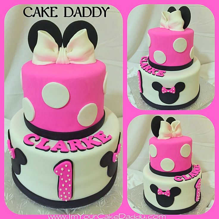 Cake Ideas For One Year Old: Minnie Mouse Themed Birthday Cake For One Year Old