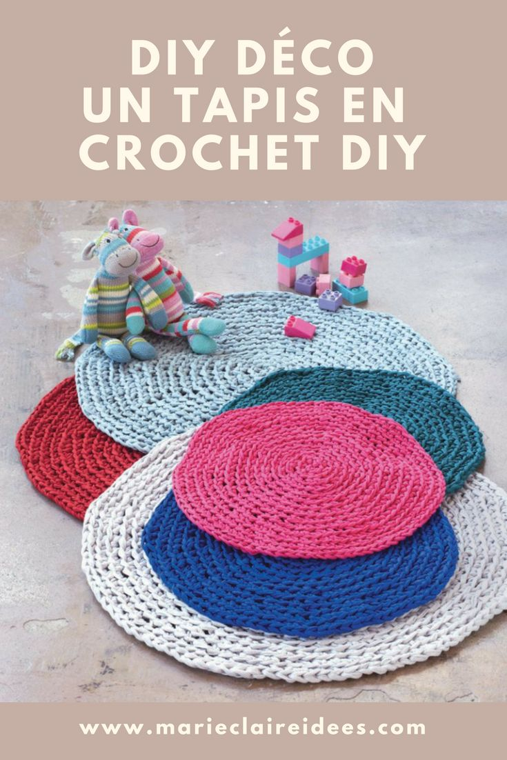 tuto crochet : patron gratuit pour crocheter un tapis DIY