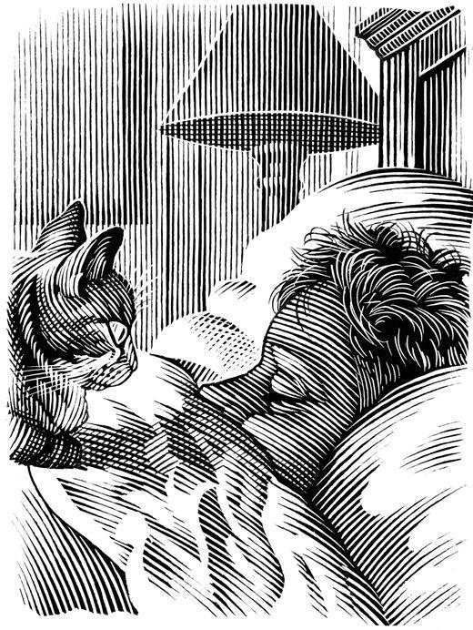 Illustration by British illustrator Bill Sanderson