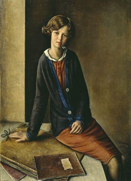 """Francois Barraud """"Portrait de jeune fille"""""""