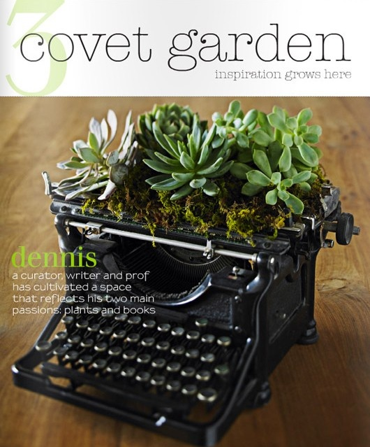 Old Typewriter re-purposed as planter.