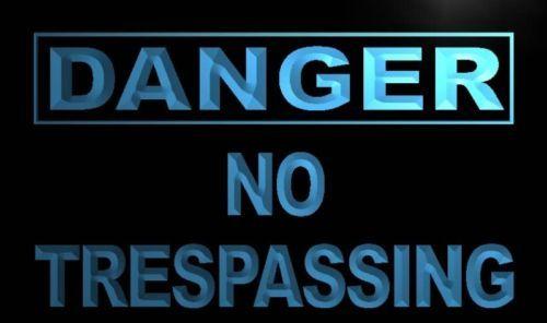 Danger No Trespassing Neon Light Sign