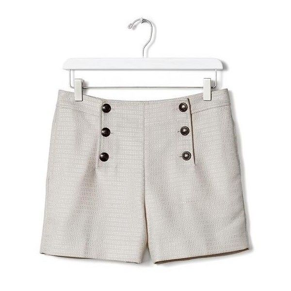 Banana Republic High Waist Sailor Short ($50) ❤ liked on Polyvore featuring shorts, high-waisted shorts, petite shorts, high rise shorts, sailor shorts and pocket shorts