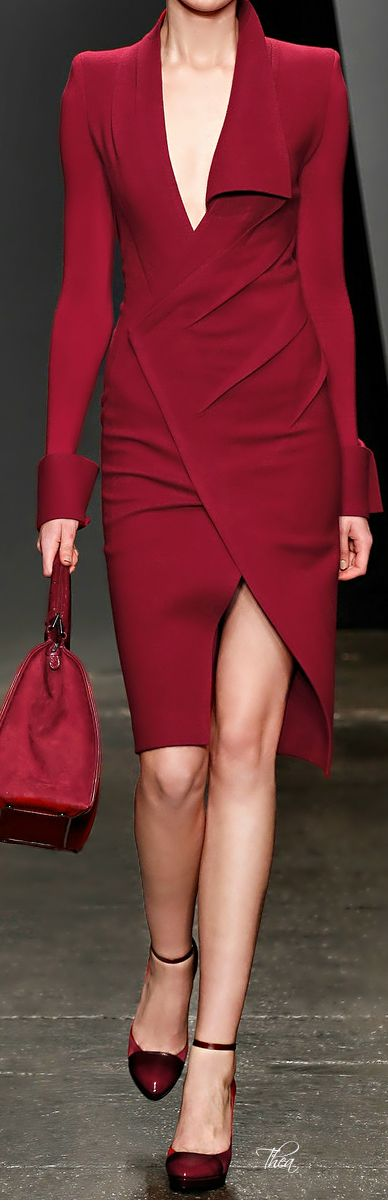 Donna Karan ...  love, love, love this shade of red!