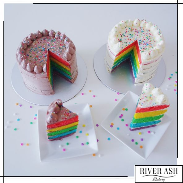 Rainbow Cream Cheese Cake/Rainbow Chocolate Buttercream Cake