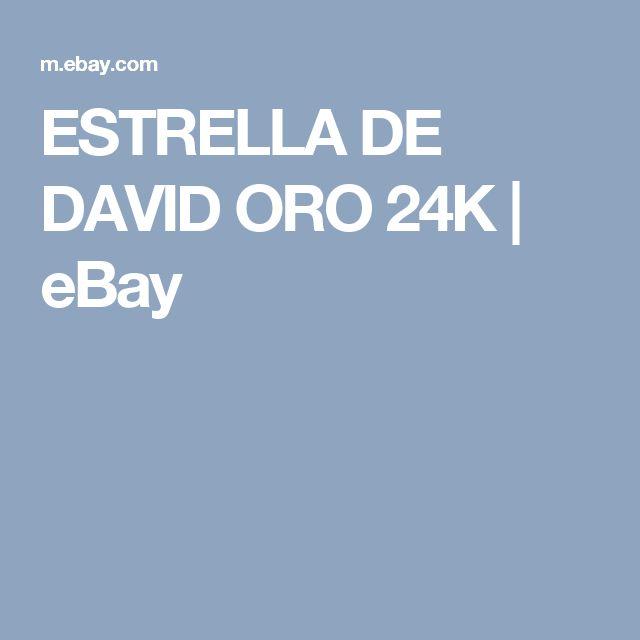 ESTRELLA DE DAVID ORO 24K   | eBay