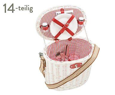Picknickkorb Nizza für 2 Personen, 14-tlg., B 34 cm