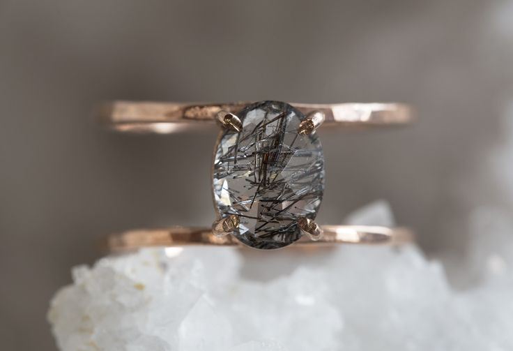 tourmaline in quartz cage ring - rose gold  ::  Alexis Russell