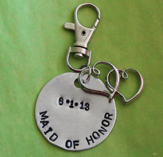 BRIDESMAID, MAID of HONOR mother of the bride, mother of the groom, purse charm, keyring, gift for bridal party