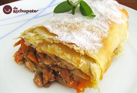 Apple and Carrot Strudel - Receta de Strudel de manzana y zanahoría - Recetasderechupete.com